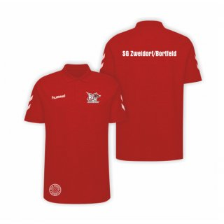 SG ZB Hummel Go Cotton Unisex Polo true red