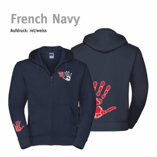 Hoodiejacke Handball-Collection Lady french navy